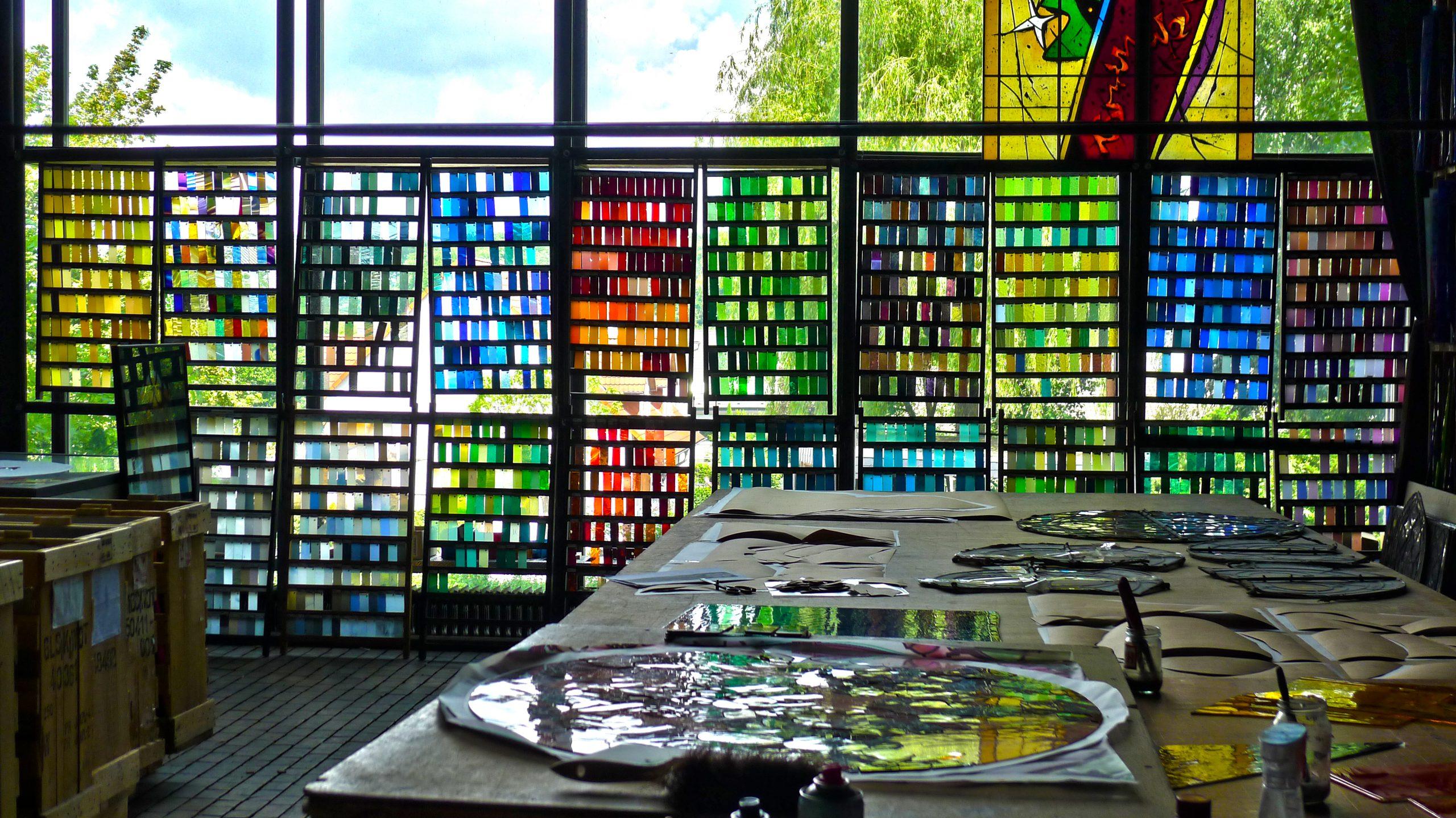 Werkstattaufnahme Derix Glasstudios