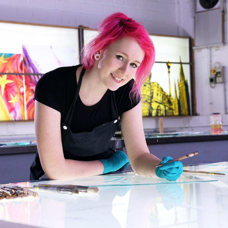 Auszubildende Jessica Zimmer