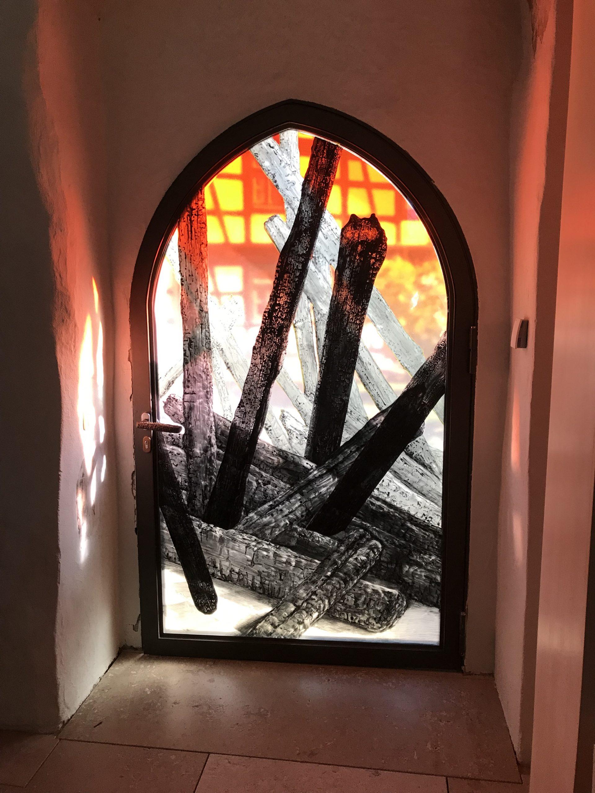 Türdetail der Kirchenburg Walldorf, Künstler Julian Plodek