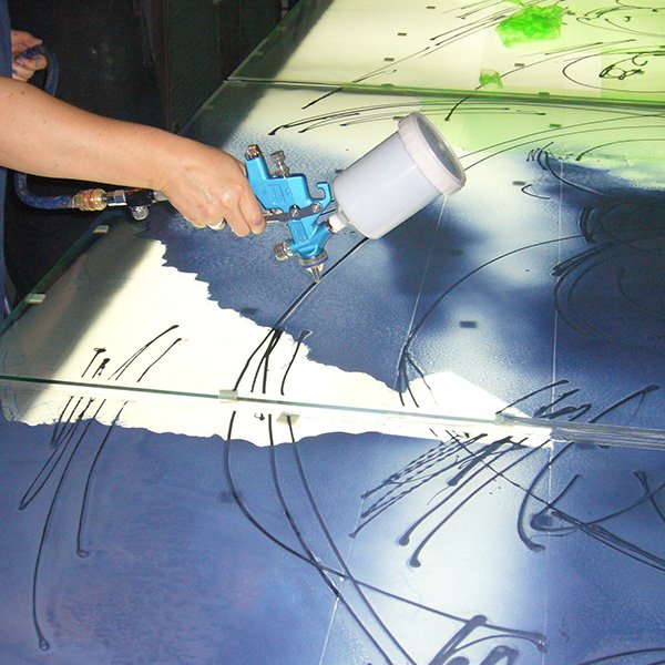Airbrush Glasmalerei