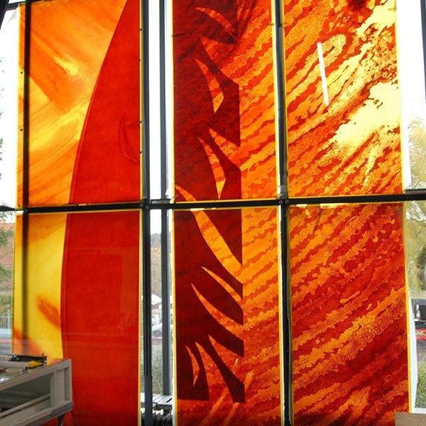 Orange Glass Painting Airbrush