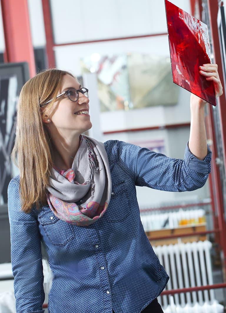 Ansprechpartner DERIX Glasstudios: Ann-Marie Vollmert