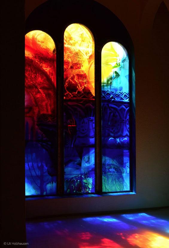 Das fertige Kunstwerk von René Blättermann in der Synagoge von Bad Kreuznach