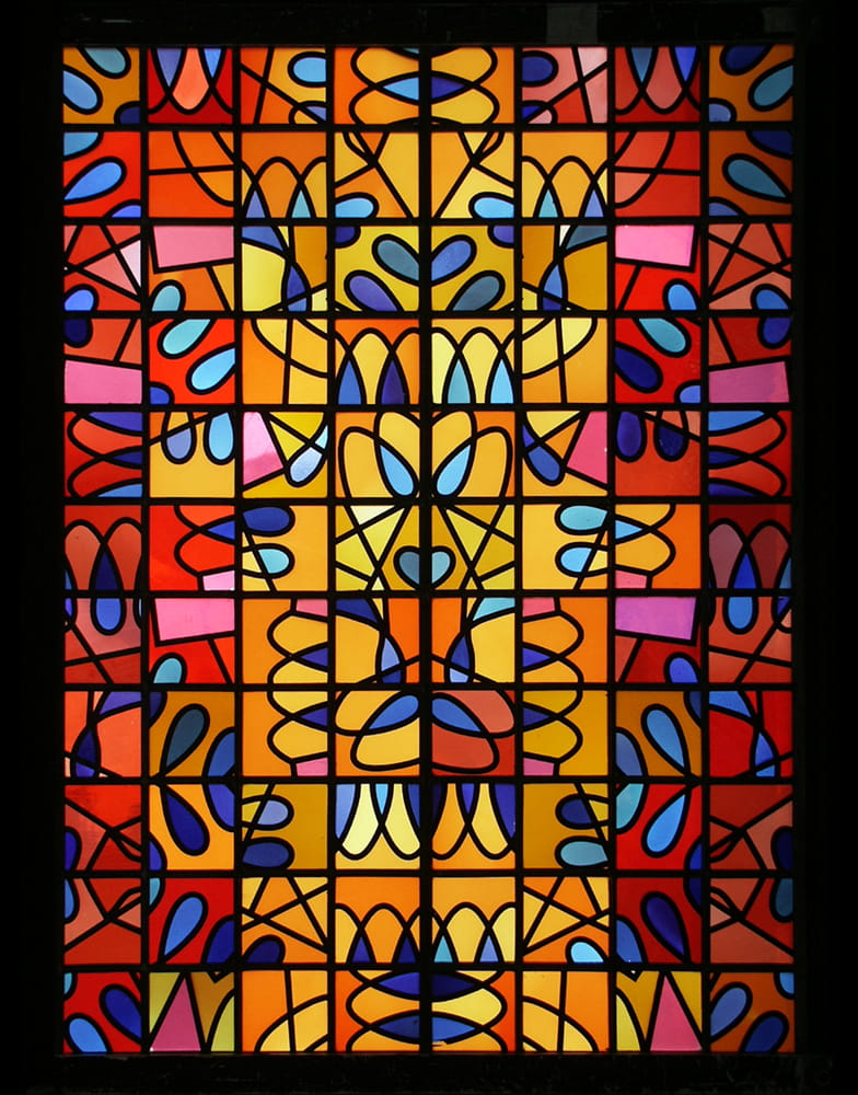 Prächtige Glasmalerei für Kirche St. Nicolai in Kalkar
