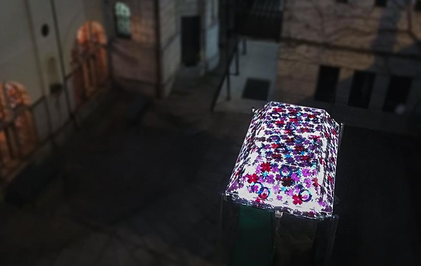 Glasmalerei - Glasbaldachin von Susanne Krell in Bern