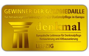 Goldmedaille für herausragende Leistungen in der Denkmalpflege in Europa
