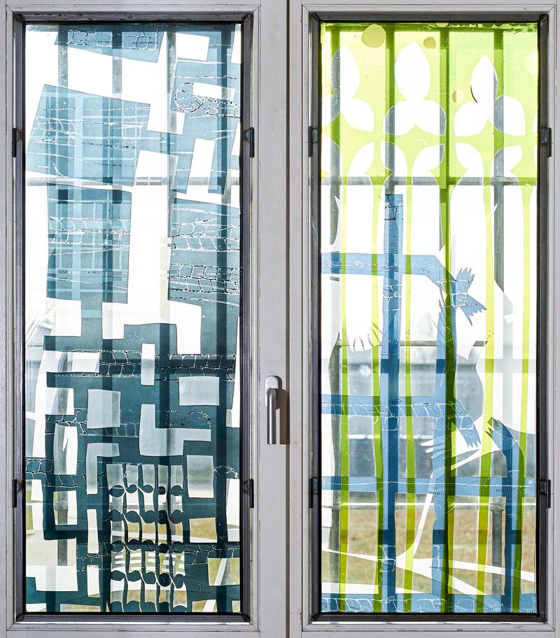 Glasmalerei in der JVA Waldeck
