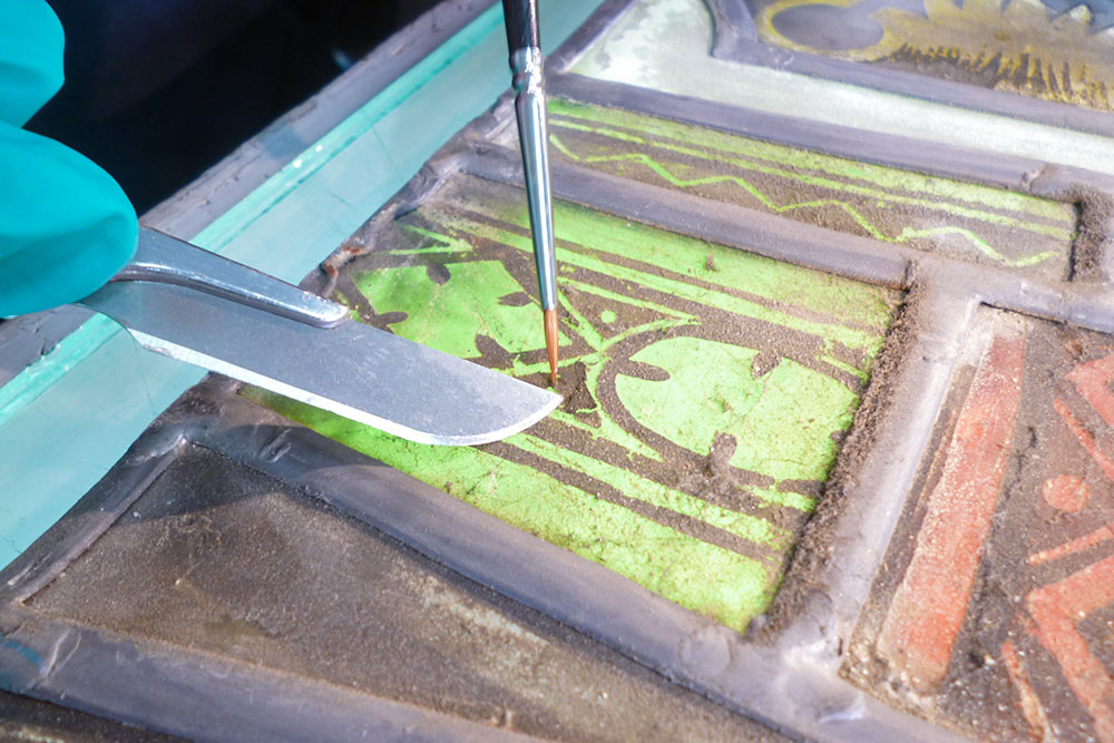 Malschichtsicherung Restaurierung Naumburger Dom