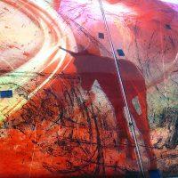 Zwischenschritt Detail: feinste Malerei | Glaskunst DERIX GLASSTUDIOS