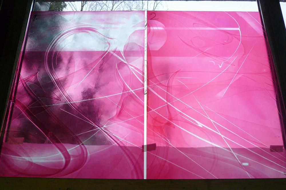 Das Glas nach mehreren Ätzstufen | Glaskunst DERIX GLASSTUDIOS