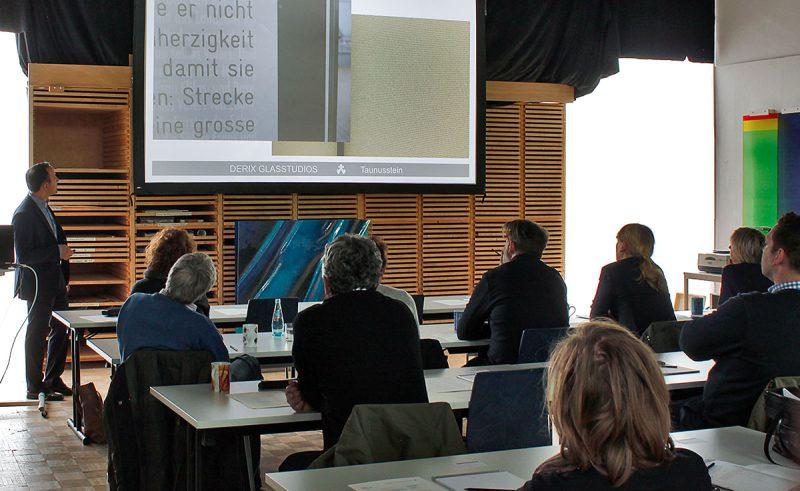 Seminare und Vorträge über Glasmalerei und Glaskunst in den DERIX GLASSTUDIOS Taunusstein