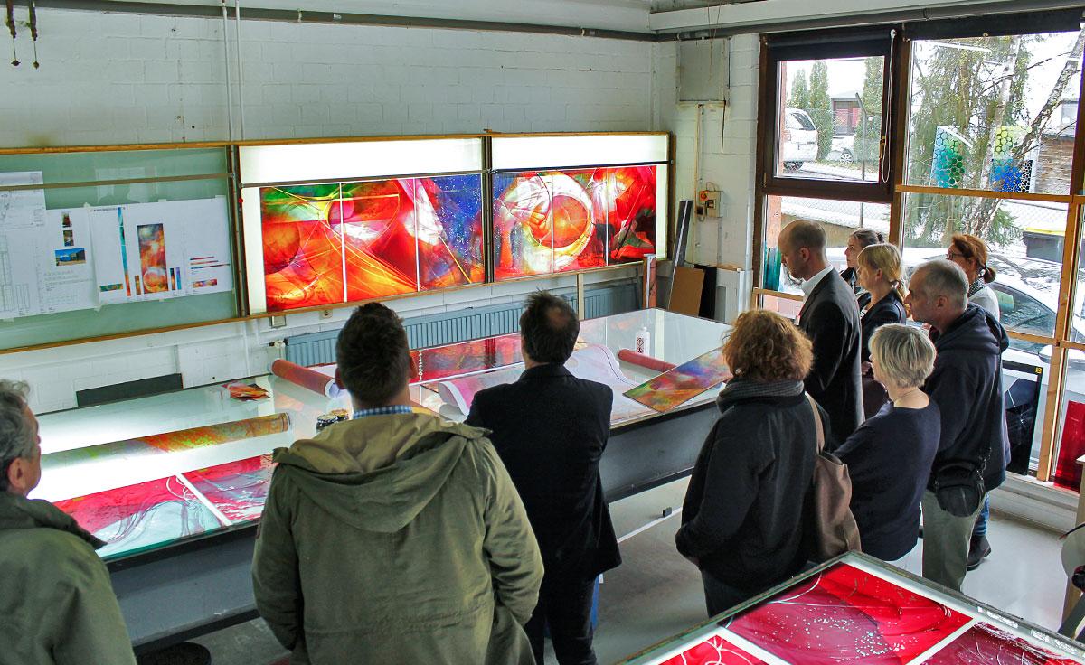 Visionen in Glas - Architektenseminar 2017 über die Glasmalerei in den DERIX GLASSTUDIOS Taunusstein
